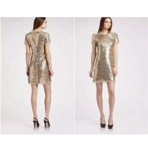 MOSCHINO CHEAP & CHIC Metallic Cocktail Dress Sz 8